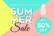Summer Banner Sale template for sale!