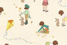Zo zoet Belle en Boo, lieve kinderplaatjes / sweet children illustrations