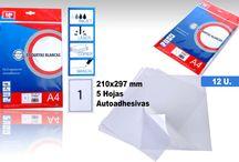 ETIQUETAS ADHESIVAS MARCA MP / etiquetas adhesivas para imprimir facilmente desde cualquier impresora, en un amplio surtido de tamaños. Sobres con 5 hojas a un precio de #oferta