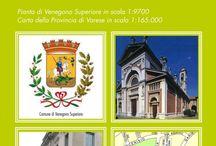 VENEGONO SUPERIORE / La cartina dettagliata del comune con lo stradario e le informazioni utili