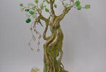 бисер деревья