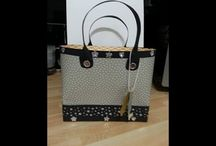 large handbag/purse  for cards using DSP stampin up