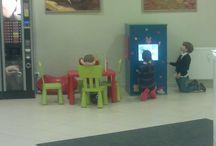 Interaktywne kąciki w centrum medycznym / Terminale z edukacyjnymi grami do poczekalni i kącika dla dzieci w centrum medycznym lub gabinecie lekarskim