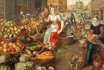 Mittelalter Essen, Kochen, Markt