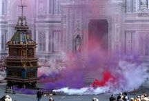 Scoppio del Carro / Florence's famous exploding Easter cart.