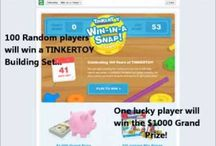 "TINKERTOY Win-in-A-SNAP! Game / In the TINKERTOY Win-in-a-Snap Game, parents and kids can play every day for 6 weeks to guess what TINKERTOY creation is being built. Solve the puzzle faster and get more entries to win one of 100 instant win TINKERTOY prizes or the $1,000 Grand Prize! Game play is exclusive to Facebook, so be sure to ""like"" the TINKERTOY page, www.facebook.com/tinkertoy, to be notified about the Win-In-A-Snap game starting September 9th. Sweepstakes runs September 9th-October 20th. / by K'NEX Brands"