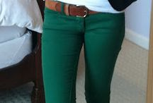 Style: Color Jeans / Color Bottoms / by Nadia Appel