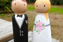 Peg dolls - wedding