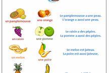 Les fruits et les légumes en français