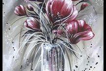 Kvety maľba