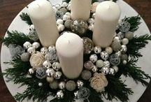 vianoce dekorácie- vence-svietniky