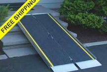 Portable Wheelchair Ramps / Portable Handicap Ramps for Wheelchairs or Scooters.