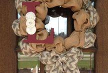 Wreaths/door decor / by Lindsey Mann Grant