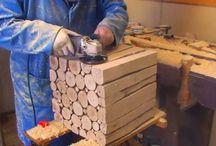 Meja kayu bulat 2