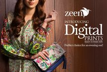 Zeen Digital Prints Collection 2014-15 / Digitally printed top in warm shades. Perfect for winter evenings.