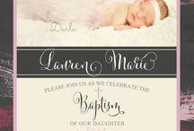 christening invite ideas