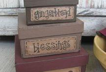 Stenciled box ideas