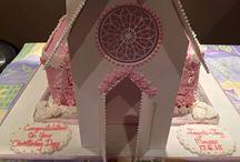 Church christening cake