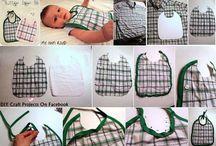 Varrás - Előkék nyálkendők babáknak / :-)