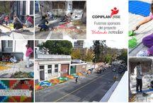 Pintando Veredas / http://copiplan.com.uy/ fue sponsor de este proyecto de #Arte Urbano