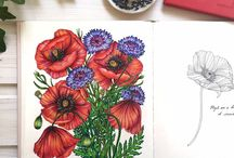 ##floral colouring pages