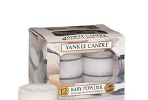 Yankee Candle T Lights / Yankee Candle T Lights are fabulous.  They are in clear plastic cups, so that you can see the lovely coloured wax.  They float, enabling you to create water features, and each last between 4 & 6 hours!  Come in boxes of 12