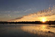 Sunrise, seashore & sunset