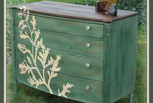 Pintura em móveis - Painted Furniture / Reforma e pintura de móveis