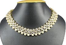 Bollywood Traditional Wedding Wear Polki Kundan Pearl Women  Necklace Set