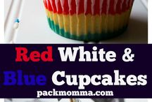 Red, white and blue recipes / 4th of July recipes that are delicious and can please a crowd.