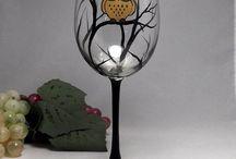 glazen/wijnflessen