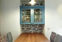 Old stonehouse remodelled. Dinner table