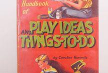 Vintage children's books, toys and decor