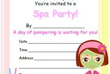 Spa Party Printables / Spa Party Free Printable: Invitations, Thank you Cards