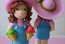 CAKE DECO FONDANT: Dolls / by Frances Galvez