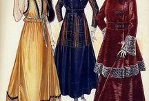 WWI era ~ 1915-1919 / Women's fashion from the Great War
