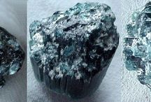 Mineral Specimens > Display Specimens / Apatite, Apophylitte, Topaz, Aquamarine, Smokey Quartz, Malachite, Kunzite and Tourmaline Crystals.