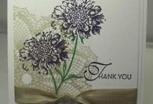 Flower cards / Home made cards