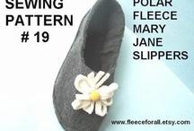 fleece mary jane slippers