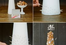 Cakes and donut towers