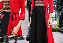 Gown Style Frock Kurtis Dealer / Gown style frock kurtis collection. Gown style kurtis is extra long with designer look. LKFABKART can supply you gown style kurtis