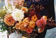 Autumn wedding color palettes