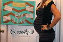 Pregnancy Chalk Board Trackers♥ / Pregnancy tracker for all stages of pregnancy.  Creative ways to show your friends your growing belly♡ / by Bethany Rein