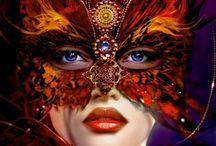 COSTUMI E TRAVESTIMENTI / Una bacheca interamente dedicata ai costumi e alle maschere per travestimento. Feste a tema, Halloween, Carnevale, Feste in  Maschera. Tutto per un travestimento di classe e originale. Tante idee per truccarsi in modo perfetto