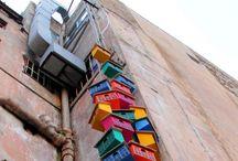 Street art urban