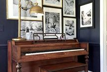 cottage piano room