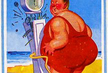 Overweight isn't funny / The seaside postcards of Donald McGill and others.