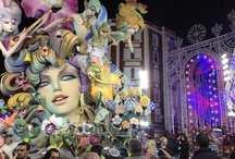Las Fallas - Valencia / Between the 12th and 19th of March, the people of Valencia block traffic with towering sculptured statues that artisans have spent the past year making. All day and night, crowds of people fill the streets and the sounds of exploding firecrackers and fireworks fill the air. If those scare you, it's always wise to be careful. At the end of the week, the huge statues are awarded prizes and then all are set on fire, which marks the end of Las Fallas and the beginning of spring.