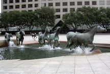 esculturas interactivas / sorprendentes esculturas que interactuan con su enorno