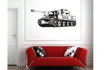 Wandtattoos für Kreative / Wandtattoos, Wandbilder / mehr Infos auf: www.Guntia-Militaria-Shop.de